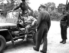 Photo. WW2. Canadian Lieutenant-General arrives at Public Relations Camp #3