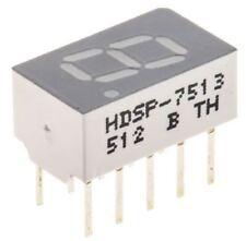 Broadcom HDSP-7513 7-Segment LED Display, CC Red 1 mcd RH DP 7.6mm