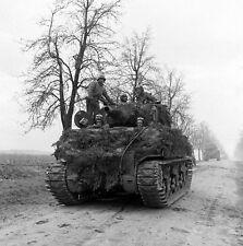 WW2 Photo WWII US Armor Advancing Into Germany 1945  World War Two / 3120