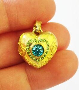 Magic Charm Hypnotic Spell Heart Locket Amulet Kruba KamFan Thai Love Lover Luck