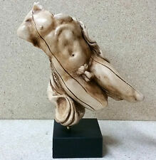 TERRA SIGILLATA HANDMADE Nude Male Figurine Ceramic Sculpture Art Deco Signed