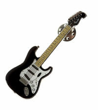 Fender® Black Stratocaster Clutch Back Lapel Pin 910-0327-300
