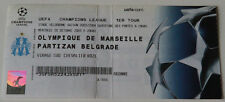 Ticket collectors CL Olympique Marseille OM Partizan Beograd 2003 France Serbia