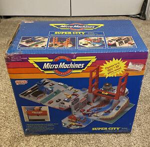 Micro Machines Super City Toolbox Playset W/8 Cars/Aircraft, 1988 Galoob W/Box