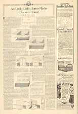 Home Made Chicken House Plans, 2pgs. 1910 Vintage Article From LHJ