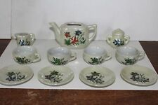 VINTAGE 1950'S CHILD'S CHINA TEA SET made in JAPAN in ORIGINAL BOX