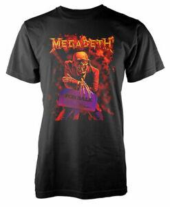 Official Megadeth T Shirt Peace Sells Classic Mens Rock Metal Black Tee Unisex