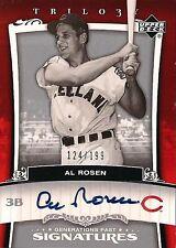 AL ROSEN 2005 Upper Deck Trilogy Autograph /199 Cleveland Indians