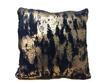 """Envogue Decorative Pillows Faux Fur Blue Gold Size 20"""" x 20"""""""