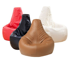 NEW  Leather Look Bean Bag Chair for adults & kids in brown and black