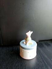 DISNEY by Charpente Classic WINNIE THE POOH Trinket Box PIGLET sitting On A Box