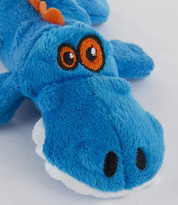 goDog Just For Me Gators with Chew Guard Tough Plush Dog Toy Blue Small