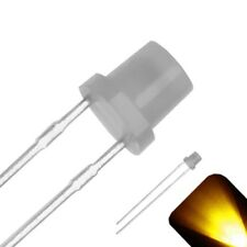 100 x 3mm Diffused Flat Top Frosted Milky Lens LED Yellow Gold Ultra Bright Car