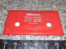 Mitutoyo Radius Gage Set Stainless Hardened Code No 186 901 Very Nice A X