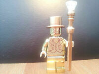 Custom Lego Mr Gold Minifigures Series 10 (Made with Genuine Lego) Mini figs UK