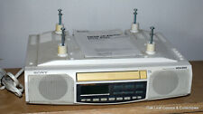 Sony ICF-CD513 Under Cabinet Counter Clock AM FM CD Player Hardware Tested Works