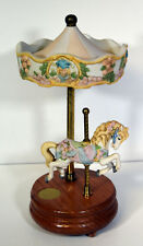 """10"""" Vintage Legends of the Rose Carousel Porcelain Horse Music Box Willitts"""