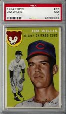 1954 TOPPS #67 JIM WILLIS CHICAGO CUBS PSA NM 7 - TOUGHER 2ND SERIES