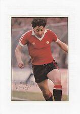Mickey Thomas Manchester United 1978-1981 original signé mag photo découpe