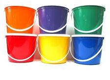 6 80 Oz Plastic Buckets Lids Food Safe Containers Mfg. USA Lead Free Durable