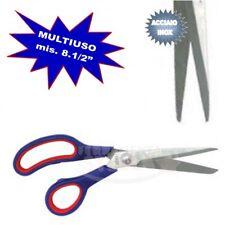 FORBICI MULTIUSO ACCIAIO INOX MIS 8 1/2' MANICO ROSSO/BLU X CASA UFFICIO FORBICE