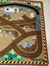 Melissa And Doug Round The Site Construction Play Rug 39 x 36
