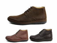 Mens Lace Up Smart Ankle Retro Chelsea Boots Casual Work Shoes Style Size UK