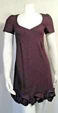 Rebecca Taylor Womens Shift Dress Purple Wool Blend size 2