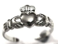 SOLID STERLING SILVER IRISH CLADDAGH TOE RING RRP$51.97 FREE EXPRESS POST IN OZ