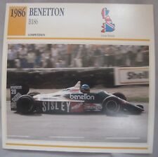 Benetton B186 Collectors Calssic Car Card