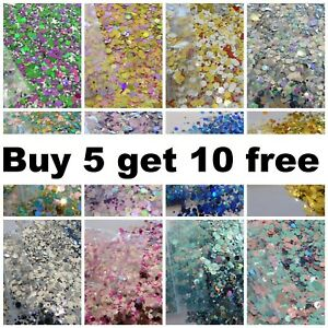 CHUNKY Festival Glitter Face Eye Body Hair Tattoo Cosmetic BUY 5 GET 10 FREE 2g