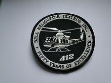 Aufnäher Bell Helicopter 412 TEXTRON INC. ca 10 cm
