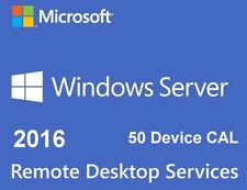 Windows Server 2016 R2 Remote Desktop Services RDS 50 USER CAL KEY LICENSE