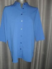BNWT Givoni size 10 blue button front 3/4 slvd shirt in EC RRP $64.95