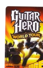 GUITAR HERO WORLD TOUR Limited Edition Gift Card New No Value BILINGUAL*