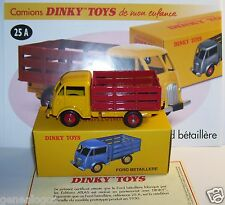REEDITION DINKY TOYS ATLAS FORD BETAILLERE JAUNE ROUGE REF 25A 1/58 IN BOX
