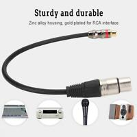 3.5mm 6.35mm RCA XLR Jack Female to Male Plug Audio Adapter Cable Stereo AUX Mic