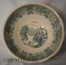 VILLEROY & BOCH china BURGENLAND GREEN Footed Round Serving Bowl @ 9 1/8""