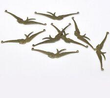 Pack De 4 Antiguos Bronce Bird conectores - 60 X 12 Mm............... p198 *