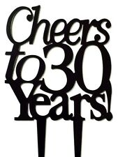 Cheers to 30 Years Birthday 30th Anniversary Cake Topper Party Decoration Sign