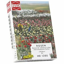 BUSCH HO ROSES KIT-SET # 1205 - suit model train scenery, war game, diorama