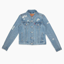 Womens Levi's  Trucker  Embroidered Denim Jean Jacket Size Small ~NWT $128