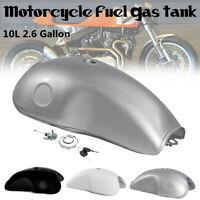 2.6 Gal 10L Motorcycle Fuel Gas Tank For BENELLI Honda BWM Suzuki Cafe