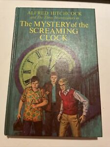 ALFRED HITCHCOCK THREE INVESTIGATORS #9 MYSTERY OF THE SCREAMING CLOCK - 1ST HC