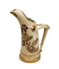 """Royal Worcester Porcelain Blush Ivory 7"""" Ewer #1116, 1889."""