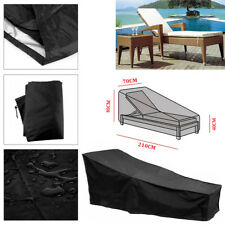 Garden Furniture Sun Bed Sunbed Lounger Cover Dust Rain Recliner Chair Protector