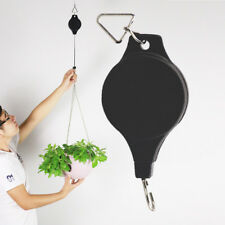 Retractable Pulley Hanging Basket Pull Down Hanger Garden Plant Pots Hook NEW