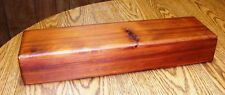 Large Cedar Feather Box 20 x 3 x 5 inches - Handcrafted in Oregon, USA