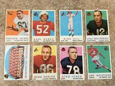1959 TOPPS FOOTBALL CARDS  LOT OF EIGHT (8) Different EX+ #90-#117 Stan Jones