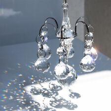 H&D 7pcs Crystal Ball Prisms Suncatcher Hanging Pendant Crystal Chandelier Decor